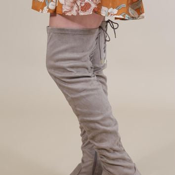 Vinci Over The Knee Boot, Taupe