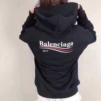 ONETOW balenciaga casual sport loose hooded top sweater hoodie sweatshirt 3