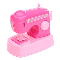 Toys For Baby Kids Pretend Toy Dollhouse Miniature Sewing Machine Pink Furniture Toys for Dolls House Decor Children Toys