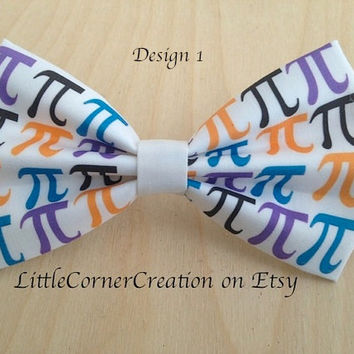 Pi - Math Symbol Inspired Hair bow or Bow tie