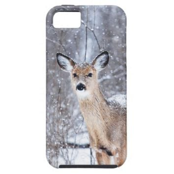 Doe in the Snow Phone Case