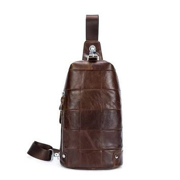 Family Friends party Board game WESTAL Men Messenger Bags Genuine Leather Men's Bags Chest Pack Sling Chest Leather Man Shoulder Bags Crossbody Bags for Men 365 AT_41_3
