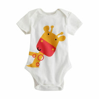 "Giraffe NWT Vaenait Baby Newborn Infant Girl Boy's One-Piece Bodysuit "" White Bodysuit""--IC = 1958087940"