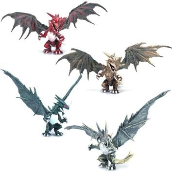 1pcs DIY Assembling Dinosaur Dragons with Wings Monster Action Figures Jurassic Age Educational Children Baby toys Classic toys