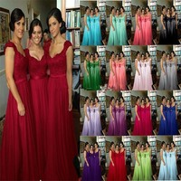 In Stock Elegant Bridesmaid Dresses Sweetheart Floor-Length Lace Formal Gowns,Wedding Party Gown robe demoiselle