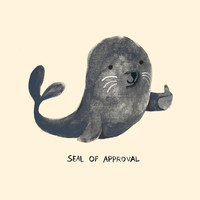 Seal Of Approval Art Print by Budi Kwan