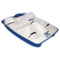 Sun Dolphin Water Wheeler Electric ASL 5 Person Pedal Boat with Canopy, Blue