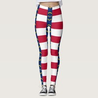 Leggings with flag of North Carolina State, USA