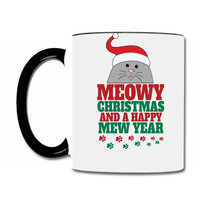 meowy christmas 1 Coffee & Tea Mug