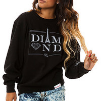 Diamond Supply Co Sweatshirt Paris Crewneck in Black