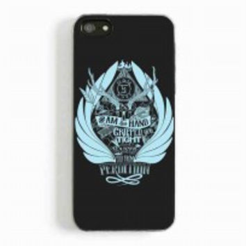 Supernatural Castiel Raised for iphone 5 and 5c case