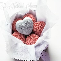 Soap Rose Ball Bouquet With Heart • The Herbal Soap