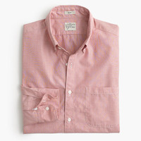 J.Crew Mens Slim Secret Wash Shirt In Persian Red End-On-End Cotton