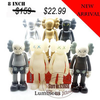 8 inch kaws Companion medicom toy kaws factory product  fancy toy gift 100% real picture 7 color in stock