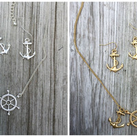 Misty Anchor and Helm Necklace