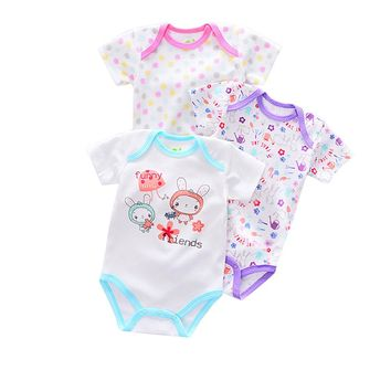3PCS Baby clothes Newborn Infant Baby Boy Girl Cartoon Romper Jumpsuit Cute Climbing Clothes