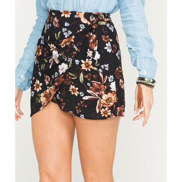 Sage the Label Women's Route 81 Floral Print Wrap Skirt