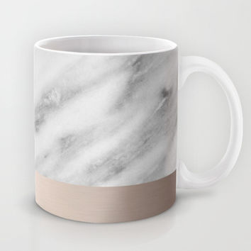 Carrara Italian Marble Holiday White Gold Edition Mug by cafelab