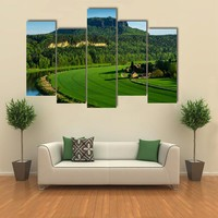 The Mountain Pfaffenstein Multi Panel Canvas Wall Art