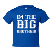 I'm The Big Brother Great Printed Graphic Tee For Kids Boy Toddlers Adorable Big Brother T Shirt
