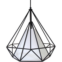 Hedron Pendant Lamp, Black /White