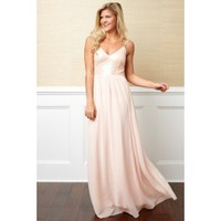 Let's Fall In Love Blush Pink Maxi Dress
