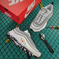 Nike Air Max 97 White Cone Silver Sport Running Shoes - Best Online Sale
