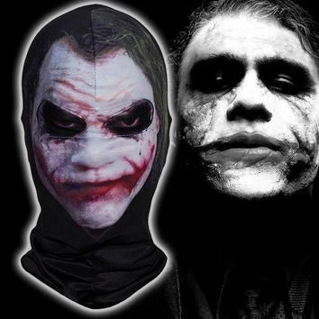 CREY6F Batman Clown Joker Mask Halloween Balaclava Costume Cosplay Movie Party Thriller Jester Motorcycle Full Face Mask