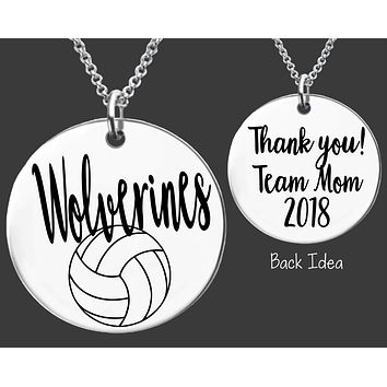 Volleyball Team Mom Necklace