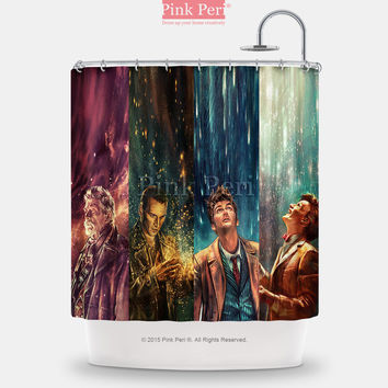 Doctors Who Artworks The Doctors Shower Curtain Home & Living 238