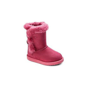 Toddler Girls' Dannie Fleece Boots, 6, Pink Cherokee