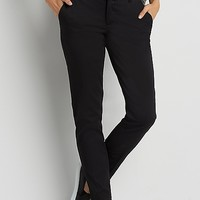the smart sateen skinny ankle pant in black | maurices