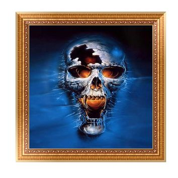 5D Skull DIY Diamond Painting Embroidery Cross Craft Stitch Home Decor Art