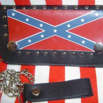 Confederate Leather Billfold Wallet w/ Chain