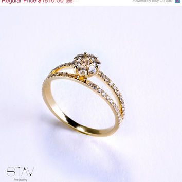 VALANTINES DAY SALE Engagement Ring ,diamonds and gold ring, solitaire ring