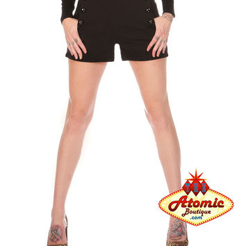 Voodoo Vixen High Waisted Black Shorts