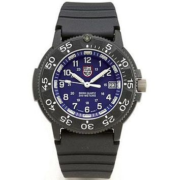 Luminox Men's Series 1 Navy SEAL Dive Watch - Blue Face - Rubber Strap