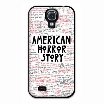 American Horror Story Quotes Supreme Samsung Galaxy S4 Case