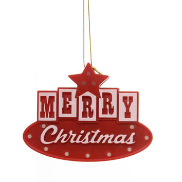 Holiday Ornaments Merry Christmas Ornament Plastic Ornament