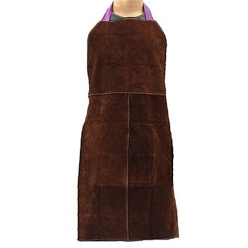 Cow Leather Welding Apron Work Protective Clothing Dustproof Uniform Apron Safety Fire-Retardant Insulation Split