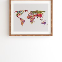 Bianca Green Its Your World Framed Wall Art