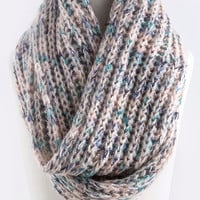 teal it how it is knit infinity scarf