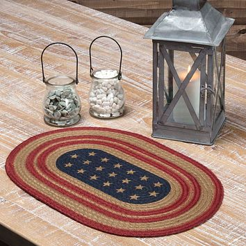 Liberty Stars Flag Jute Placemat - Set of 6