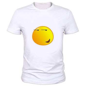 Men 3D Cartoon Face Emoji t-shirt Emoticon weed leaf summer style tees Funny fac