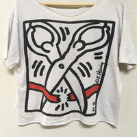 1989 KEITH HARING Museum of Contemporary Art Chicago Vintage T Shirt