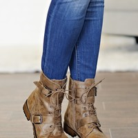 *  Snapdragon Mid Shaft Combat Boot : Hickory