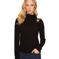 Project Social T Sweet Thing Lace-Up Top