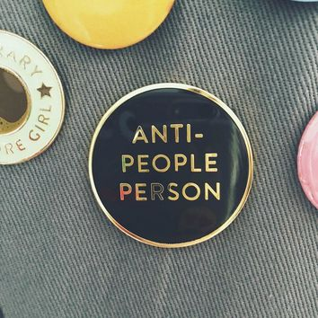 Rhubarb Paper Co. - Anti-People Person Enamel Pin