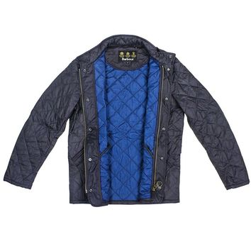 Flyweight Chelsea Jacket in Navy by Barbour