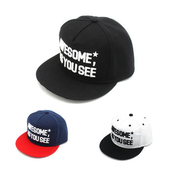 Hot Sale Hip-hop Baseball Cap Alphabet Hats [4917730436]